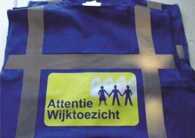 Veiligheidshesjes voor de Wijktoezichtteams van de gemeente.